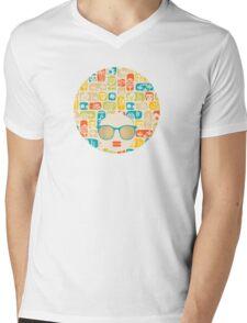 Love, birds and skulls Mens V-Neck T-Shirt