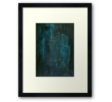 Abstract Watercolor Grunge Texture iPhone Cover Framed Print