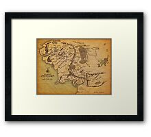 The Middle Earth Framed Print