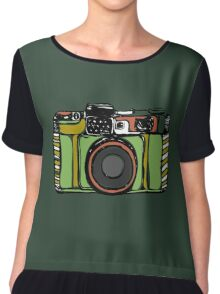Vintage film camera big Chiffon Top