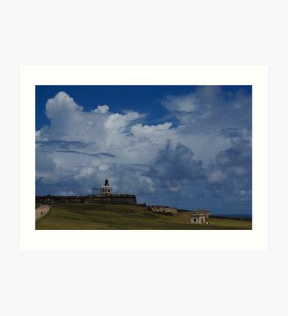 Dramatic Tropical Sky Over Old San Juan, Puerto Rico Art Print