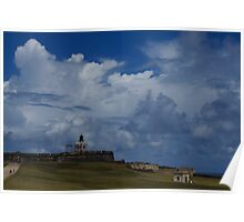 Dramatic Tropical Sky Over Old San Juan, Puerto Rico Poster