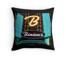 Binions Casino Entrance - Las Vegas Throw Pillow