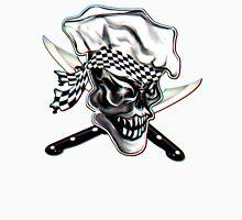 Skull Chef with Checkered Bandana Unisex T-Shirt