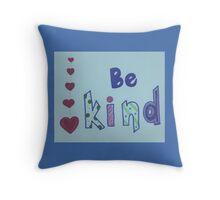 Be Kind - Hearts&Patterns Throw Pillow
