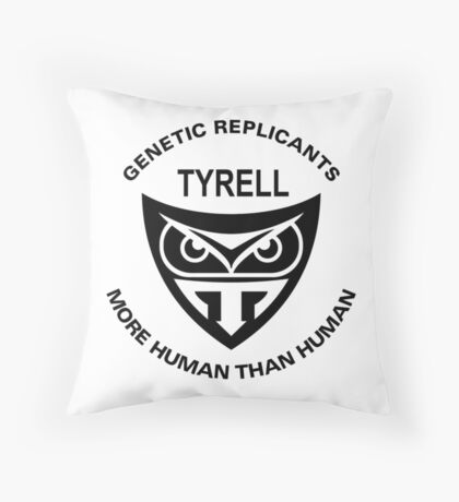 TYRELL Logo Throw Pillow