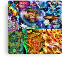 Where Are You Are Here - The Answer To The Universe. Visual Guide for Humans No.33 DMT ART Canvas Print