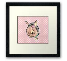 Kitsch Critter Denny the Donkey Framed Print