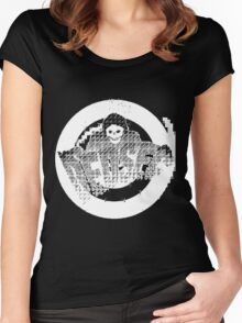 Watch Dogs 2 - DedSec Reaper V2 White Women's Fitted Scoop T-Shirt