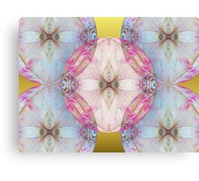 YoYo Baby: Plastic Bubble Kaleido on Gold Canvas Print