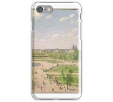 The Garden of the Tuileries on a Spring Morning ,  Camille Pissarro iPhone Case/Skin