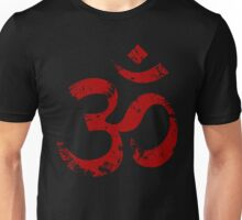 Red Painted Ohm Symbol Unisex T-Shirt