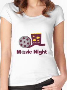 Retro movies night Women's Fitted Scoop T-Shirt