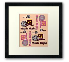 Retro movies night Framed Print