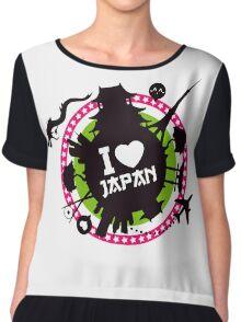 """I Love Japan""  Chiffon Top"