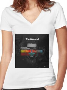 The Weeknd Women's Fitted V-Neck T-Shirt