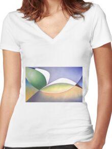Seabird in Flight Women's Fitted V-Neck T-Shirt