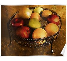 Fresh Fruit Fresco Poster