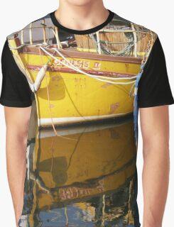 Yellow Boat Reflection Graphic T-Shirt
