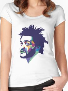 The Weeknd #HD Women's Fitted Scoop T-Shirt