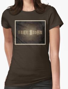Vintage Elections Typography Womens Fitted T-Shirt
