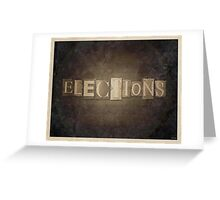 Vintage Elections Typography Greeting Card