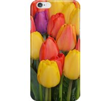 Colourful tulips bunch iPhone Case/Skin