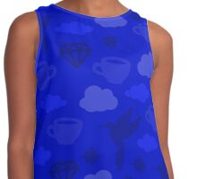 Morning Blues with Puzzles and Diamonds Contrast Tank