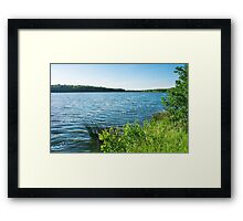 lake landscape Framed Print