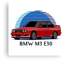 BMW M3 Sport Evolution (E30) (red) Canvas Print