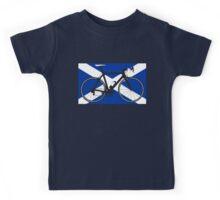 Bike Flag Scotland (Big - Highlight) Kids Tee