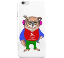 Hipster Owl - Keep Calm iPhone Case/Skin