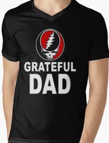 GRATEFUL DAD Mens V-Neck T-Shirt