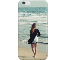 Woman at the beach iPhone Case/Skin