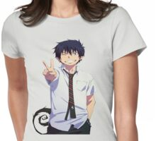 Rin okumura-Peace Womens Fitted T-Shirt