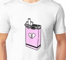 broken heart cigarettes Unisex T-Shirt