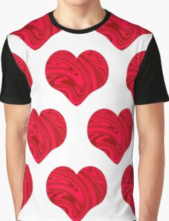 Red original hearts design Graphic T-Shirt