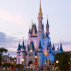 Cinderella's Castle at Dusk (1) by Mark Fendrick