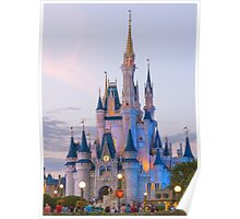 Cinderella's Castle at Dusk (2) Poster