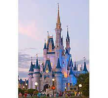 Cinderella's Castle at Dusk (2) Photographic Print