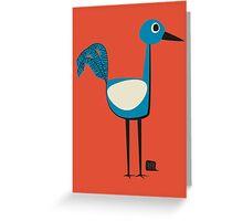 A Curious Bird Greeting Card