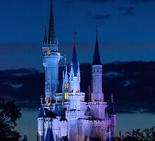 Cinderella's Castle at Dusk (phone case) by Mark Fendrick