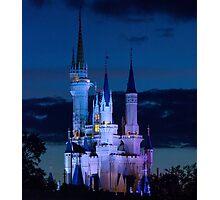 Cinderella's Castle at Dusk (phone case) Photographic Print