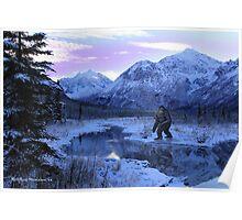 BIGFOOT WINTER SCENE Poster
