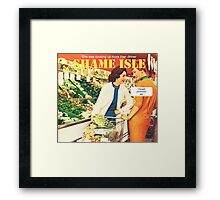 Shame Isle Retro Spoof Humor Cooking up more than dinner Framed Print