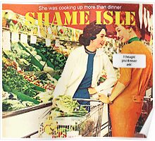 Shame Isle Retro Spoof Humor Cooking up more than dinner Poster