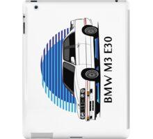 BMW M3 Sport Evolution (E30) (white) iPad Case/Skin
