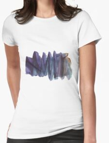 Abstract Watercolor Texture Womens Fitted T-Shirt
