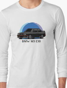 BMW M3 Sport Evolution (E30) (black) Long Sleeve T-Shirt