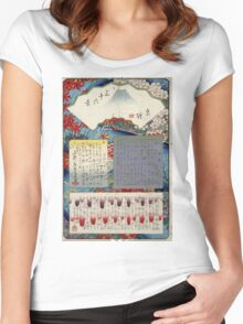 Mokuroku - Hiroshige Ando - 1858 - woodcut Women's Fitted Scoop T-Shirt